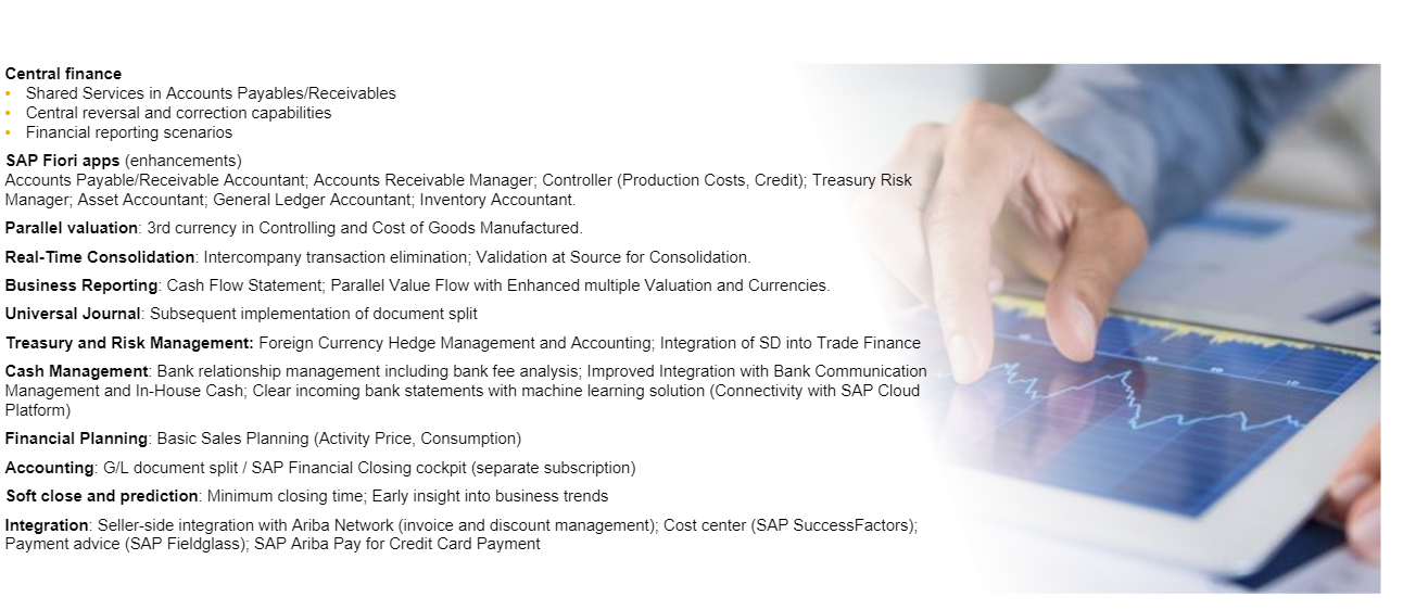 Finance Innovations in S/4HANA 1709