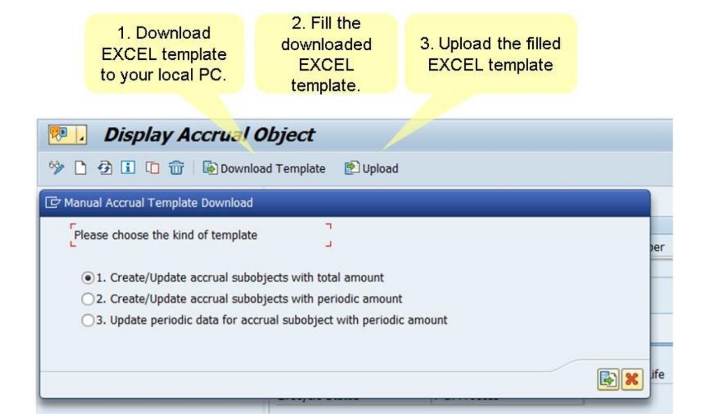 Accrual Management excel upload